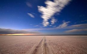 Картинка небо, звезды, природа, озеро, соль, соленое озеро