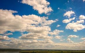 Картинка облака, река, Лагерный сад, Томск, Нижняя терраса, Томь