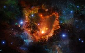 Обои космос, звезды, туманность, арт, space, nebula, art