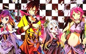 Картинка Jibril, Stephanie Dora, No Game No Life, Series Sora, Yuu Kamiya
