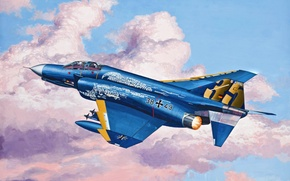 Картинка art, painting, jet, F-4 Phantom JG 71 Richthofen
