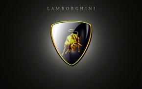 Картинка отражение, фон, Lamborghini, марка