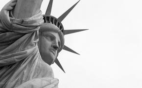 Картинка крупный план, символ, америка, статуя свободы, сша, штаты, liberty, usa, new york city, nyc