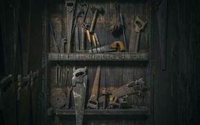 Картинка паутина, пыль, инструмент, ножовки