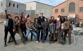 Обои Ходячие мертвецы, сериал, Rick, Carl, Glenn, тюрьма, Andrea, персонажи, The Walking Dead, Tyreese, Hershel, Governor, ...