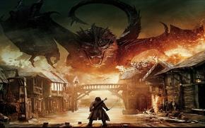 Картинка Dragon, The Hobbit, Hobbit, Smaug, Bard