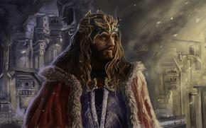 Картинка Рисунок, Хоббит, Гном, Торин Дубощит, Король народа Дурина