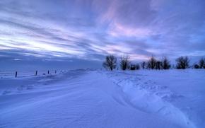Обои зима, снег, пейзаж