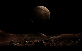 Картинка пустота, космос, тьма, мертвая планета