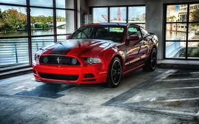 Картинка Mustang, red, ford, 302, Boss, room