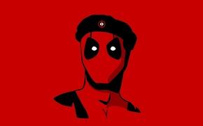 Обои Deadpool, Дэдпул, маска, Marvel Comics, красный