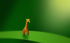 Картинка игрушка, жираф, vladstudio, зеленый фон