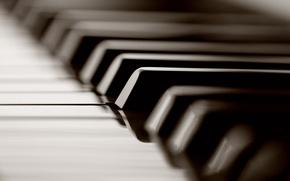 Обои макро, клавиши, кнопки, фотографии, пианино, музыкальные инструменты