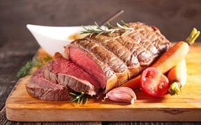 Картинка мясо, овощи, помидоры, морковь, tomatoes, meat, vegetables, буженина, carrots