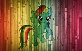 Картинка фон, доски, пони, My Little Pony, Rainbow Dash