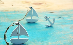Картинка пляж, лето, дерево, кораблик
