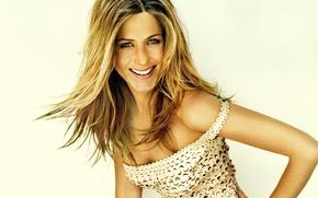 Картинка взгляд, улыбка, Jennifer Aniston, американская актриса