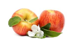 Картинка цветы, яблоки, фрукты
