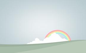 Картинка облака, радуга, вектор