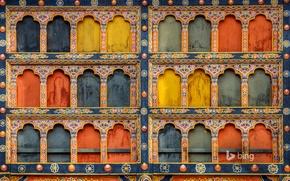 Картинка краски, архитектура, Бутан, Паро