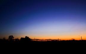 Картинка небо, закат, вечер