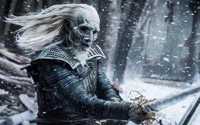 Обои creature, sword, undead, death, Game of Thrones, ice, cold