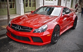 Картинка Mercedes, Red, AMG, Black Series, SL65