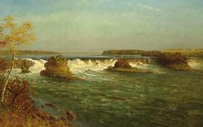 Обои Водопады Святого Антония, картина, пейзаж, Альберт Бирштадт