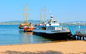 Картинка море, корабли, Геленджик