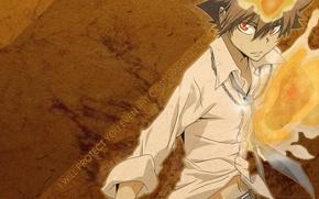 Картинка десятый босс вонголы, sawada tsunayoshi, учитель-мафиози реборн, katekyo hitman reborn, савада тсунаёши