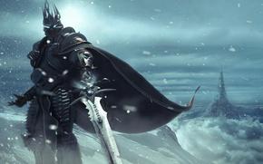 Обои wow, arthas, lich king, world of warcraft
