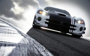 Обои дорога, Dodge, viper