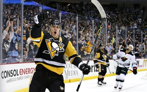 Картинка игра, лёд, хоккей, гол, хоккеист, матч, hockey, Евгений Малкин, вау, Питтсбург Пингвинс, Pittsburgh Penguins
