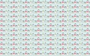Картинка фон, текстура, семья, арт, пингвин, детская
