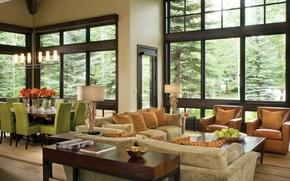 Картинка дизайн, стиль, вилла, интерьер, жилое пространство