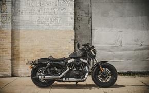 Картинка bike, classic, american, Harley-Davidson, Sportster, Forty-Eight, 2016, v-twin, 1200