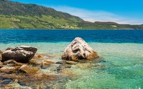 Картинка Природа, Море, Горы, Камни, Чили, Conguillio National Park