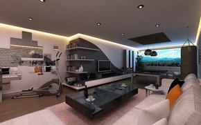 Картинка дизайн, стиль, интерьер, space, creative, interior, жилая комната, loft
