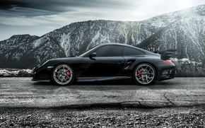 Картинка 2015, Carrera, сбоку, каррера, порше, 911, Porsche, Turbo