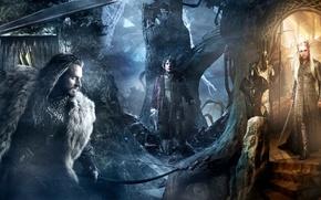 Обои Bilbo, Thranduil, Хоббит: Пустошь Смауга, or There and Back Again, The Hobbit: The Desolation of ...