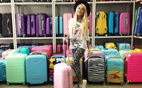 Картинка фото, модель, Девушка, шляпа, тату, блондинка, сумки, магазин, Bantik Boy