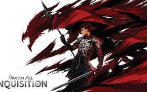 Картинка меч, копье, dragon age, art, bioware, inquisition, Cassandra Pentaghast, Dragon Age Inquisition