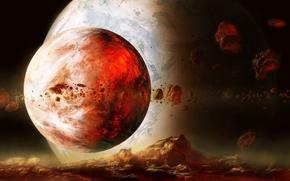 Картинка космос, звезды, планеты, space, stars, planet, exoplanet