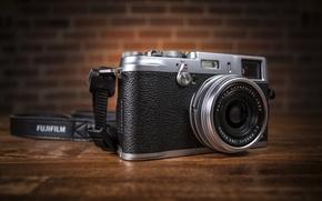 Картинка фон, фотоаппарат, Fuji X100S