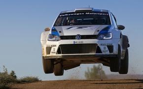 Картинка Volkswagen, Скорость, WRC, Rally, Ралли, Передок, Polo, Sebastien Ogier, Julien Ingrassia