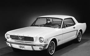 Обои форд, Ford Mustang, белая, 1964, машина