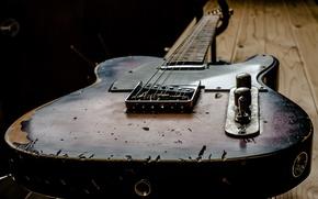 Обои макро, фон, гитара