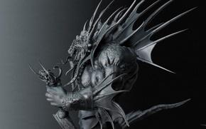 Картинка змей, чудовище, наги, Warcraft III, наг, Салардар