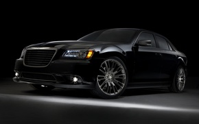 Картинка Chrysler, Машина, Крайслер, Машины, Чёрный, Car, Автомобиль, Cars, Black, 300, Автомобили, Limited Edition, Вид спереди, …