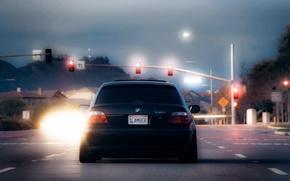 Картинка bmw, светофор, бумер, семёрка, e38, 7 series, bumer
